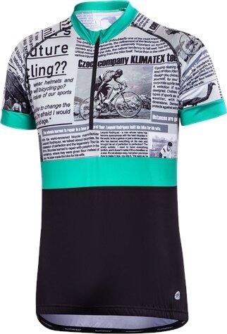 Modro-zelený pánský cyklistický dres Klimatex
