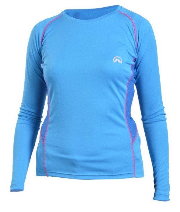 Modré dámské funkční tričko s dlouhým rukávem NorthFinder
