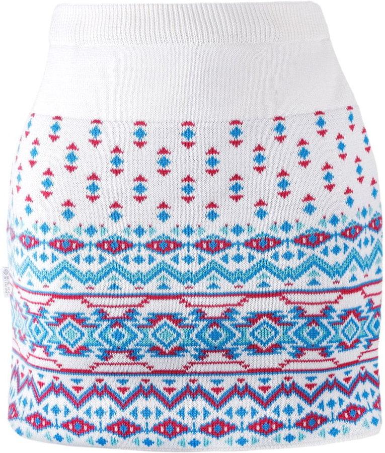 Bílo-modrá dámská sukně na běžky Kama - velikost S
