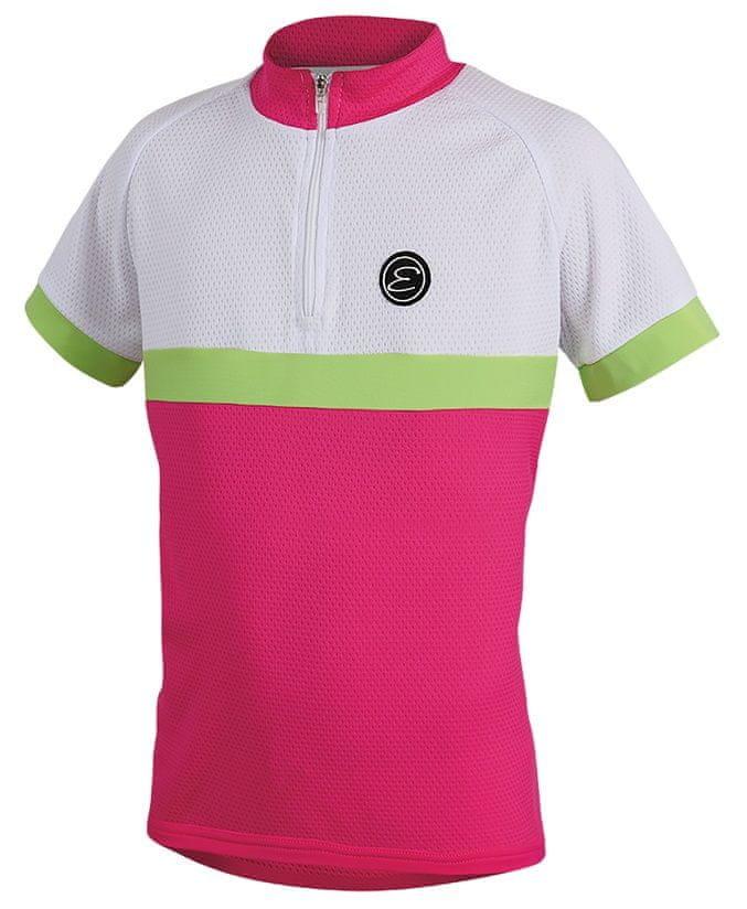 Bílo-růžový dívčí cyklistický dres Etape