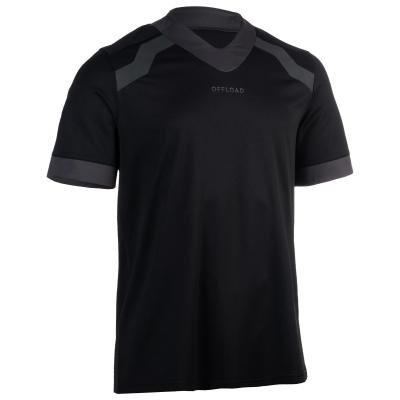 Černý pánský ragbyový dres R100, Offload