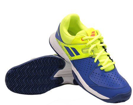 Modro-žlutá pánská tenisová obuv Pulsion Clay, Babolat