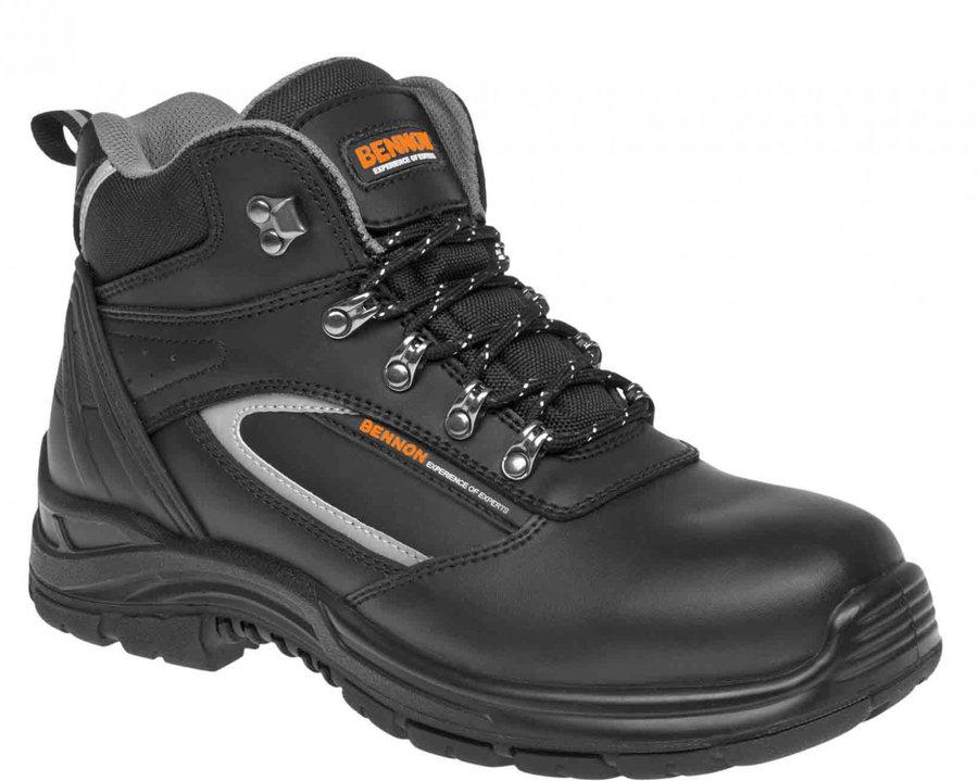 Černé voděodolné pánské trekové boty Bennon