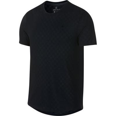 Černé pánské tenisové tričko Nike - velikost XL