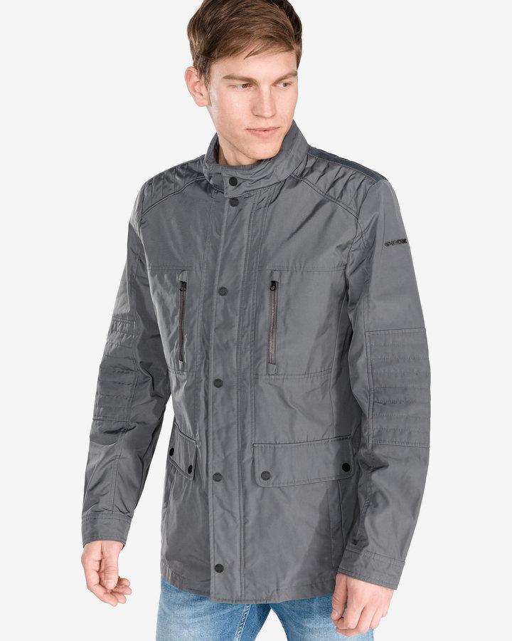 Šedá pánská bunda - větrovka Geox - velikost XXL