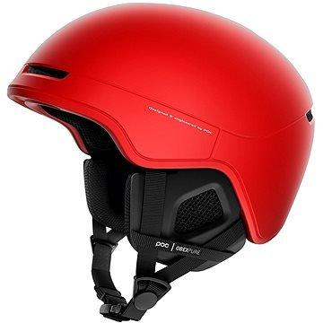 Červená lyžařská helma POC
