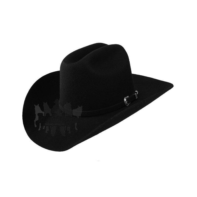 Černý westernový unisex jezdecký klobouk Wrangler