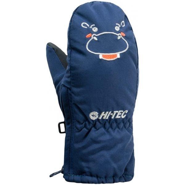 Modré dětské zimní rukavice Hi-Tec