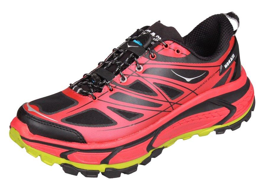 Červené dámské běžecké boty - obuv Mafate Speed, Hoka One One - velikost 40 EU