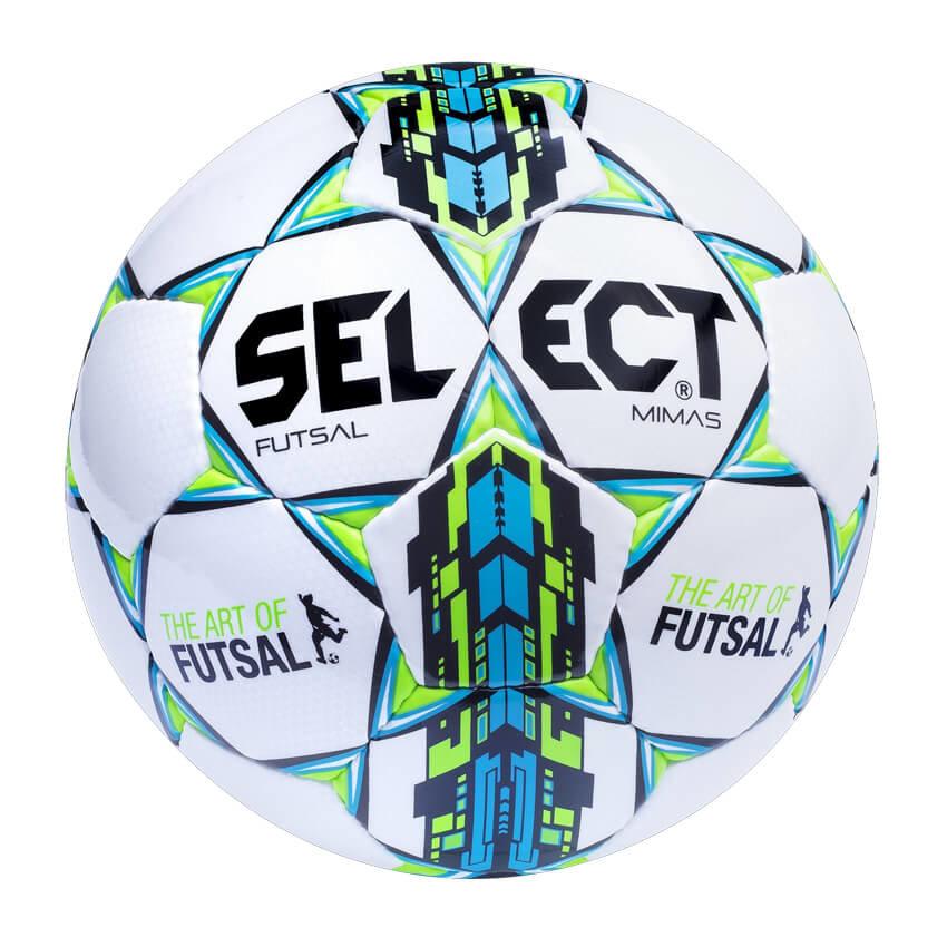 Bílo-modrý futsalový míč FB Futsal Mimas, Select