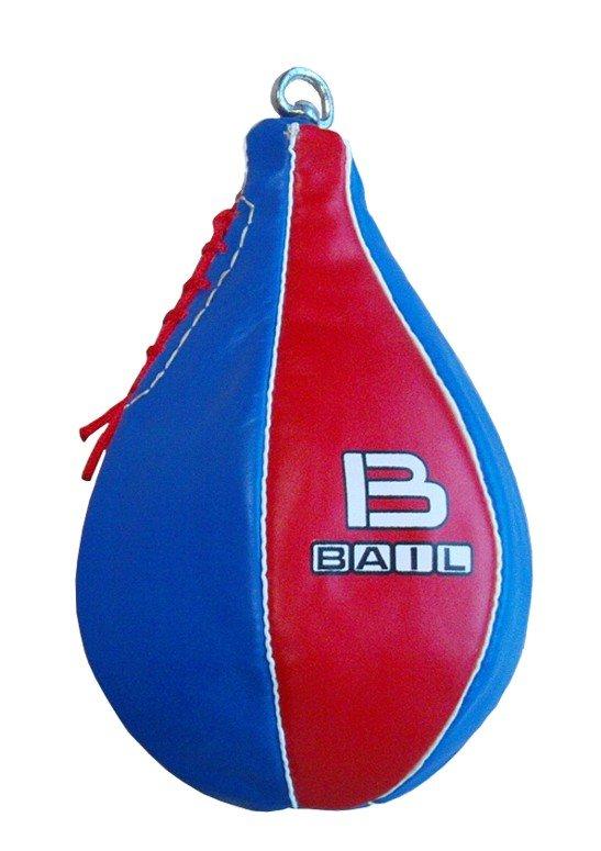 Červeno-modrá závěsná boxovací hruška Bail