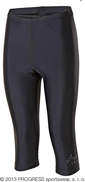 Černé 3/4 dámské cyklistické kalhoty s vložkou Progress - velikost XL
