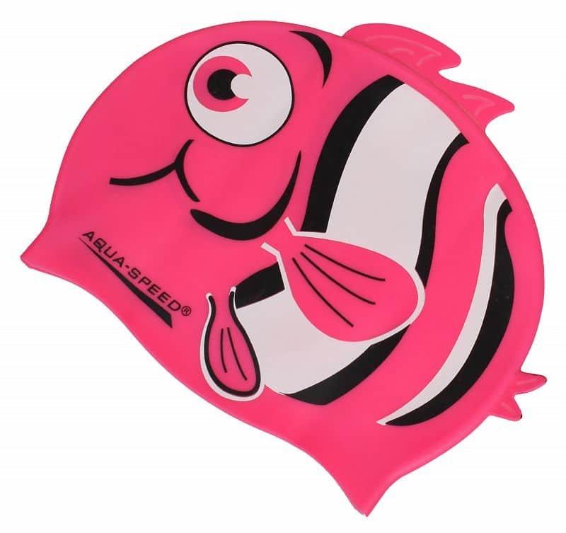 Fialová dětská dívčí plavecká čepice ZOO, Aqua-Speed