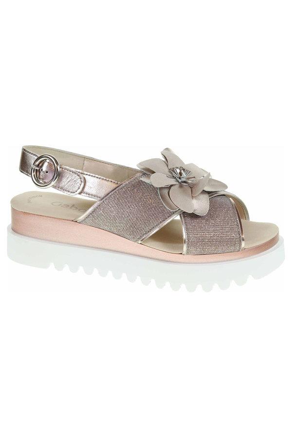 Růžové sandály Gabor