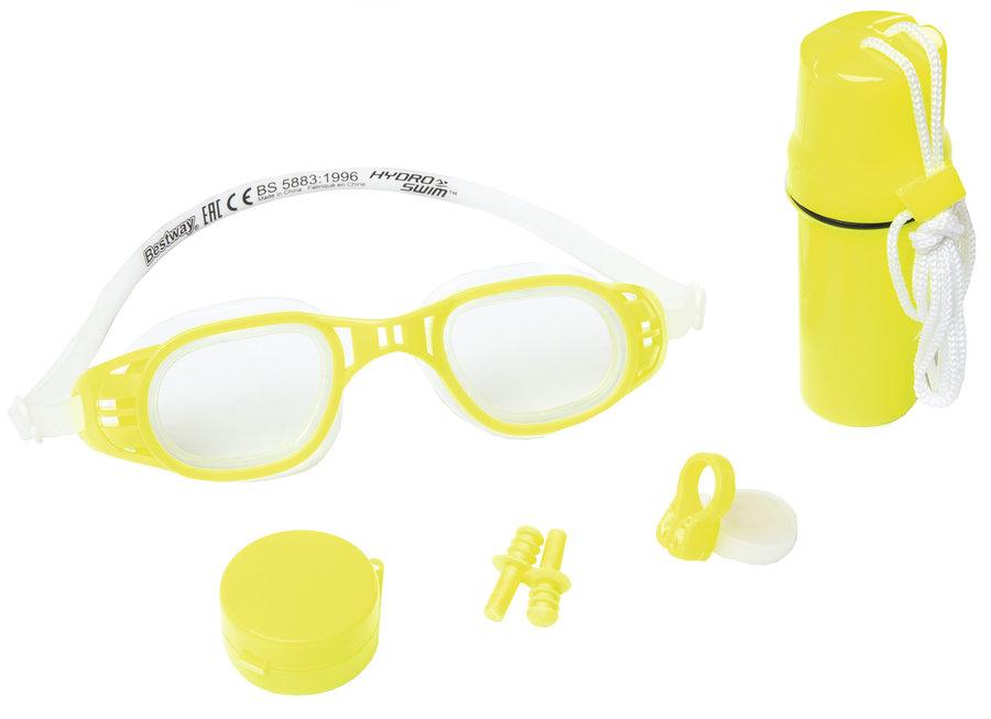 "Modrá plavecká sada Bestway ""brýle, klapka, ucpávky, krabička"""