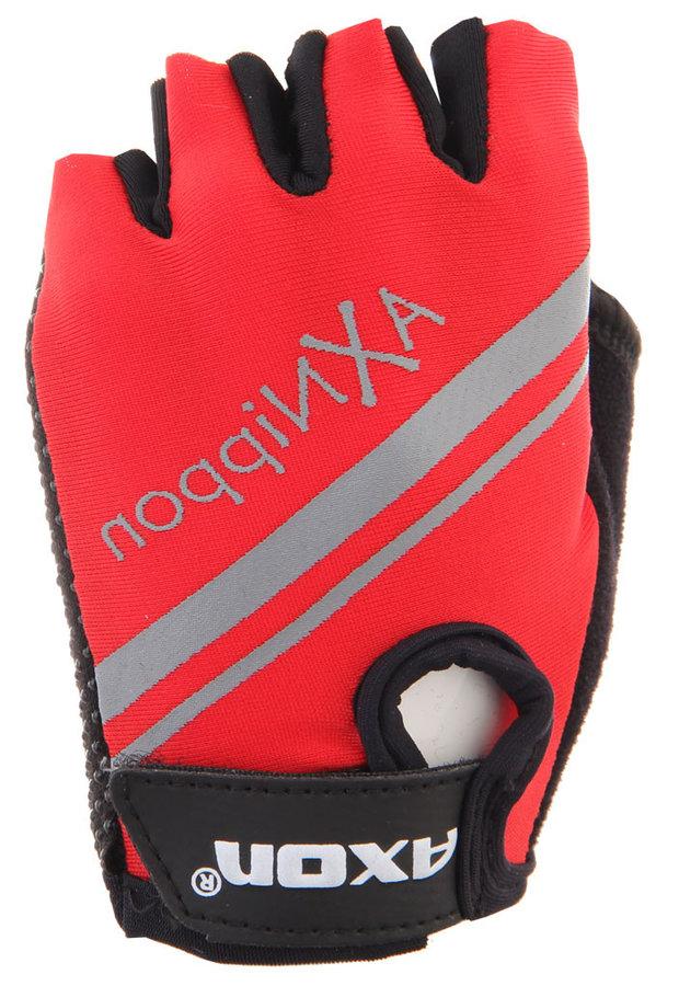 Červené dětské cyklistické rukavice Axon - velikost XXS