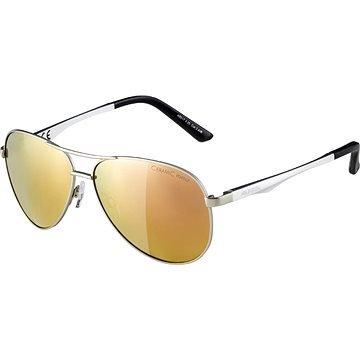 Stříbrno-zlaté cyklistické brýle Alpina
