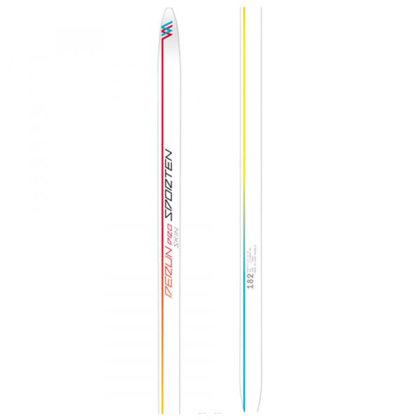 Bílé dámské běžky bez vázání Sporten - délka 182 cm