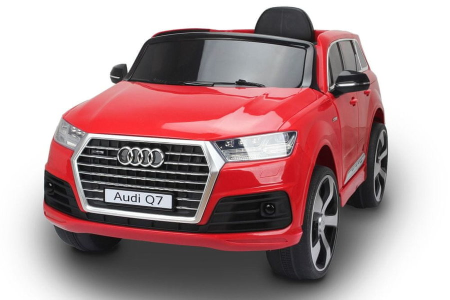 Červené dětské elektrické autíčko Audi Q7, Beneo