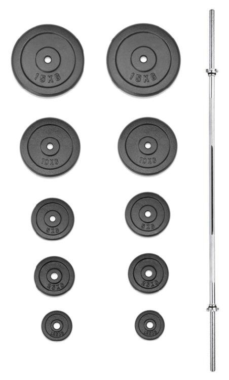 Činkový set - TRINFIT nakládací činka PREMIUM 75 kg kovová