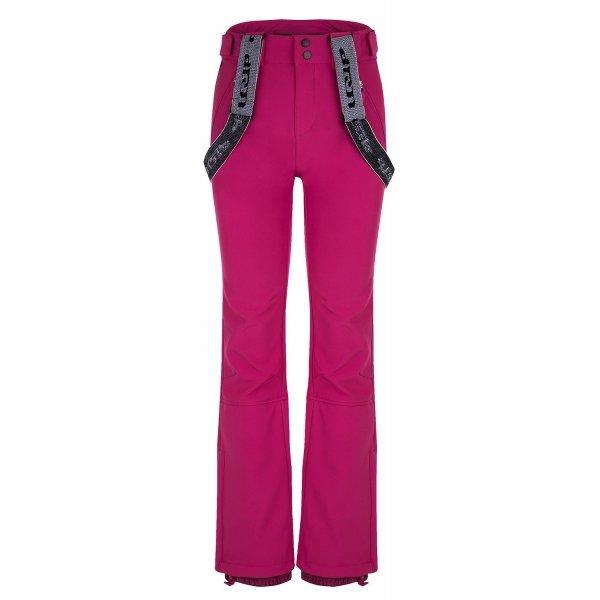 Růžové softshellové dámské kalhoty Loap - velikost XL