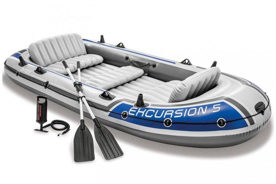 Šedý nafukovací člun pro 5 osob INTEX