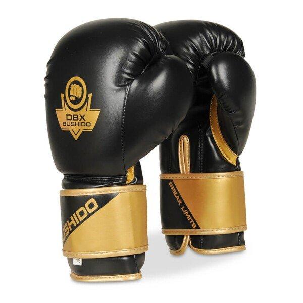 Černo-zlaté boxerské rukavice Bushido