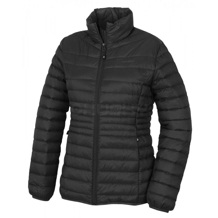 Černá peřová dámská bunda Husky - velikost L