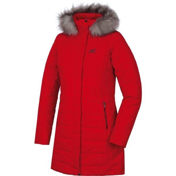 Červený dámský kabát Hannah - velikost 34