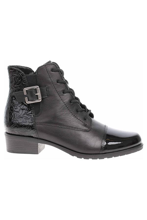Černé dámské zimní boty Remonte