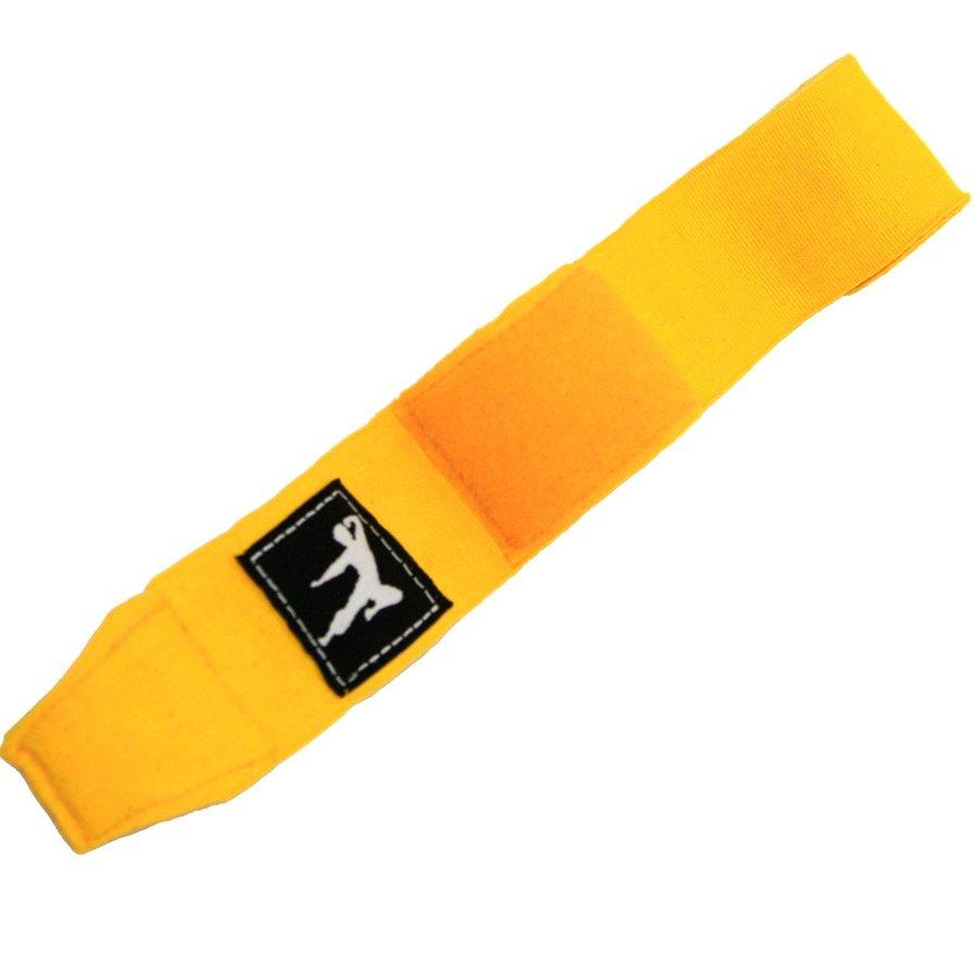 Žlutá boxerská bandáž BRUCE LEE - délka 2,5 m