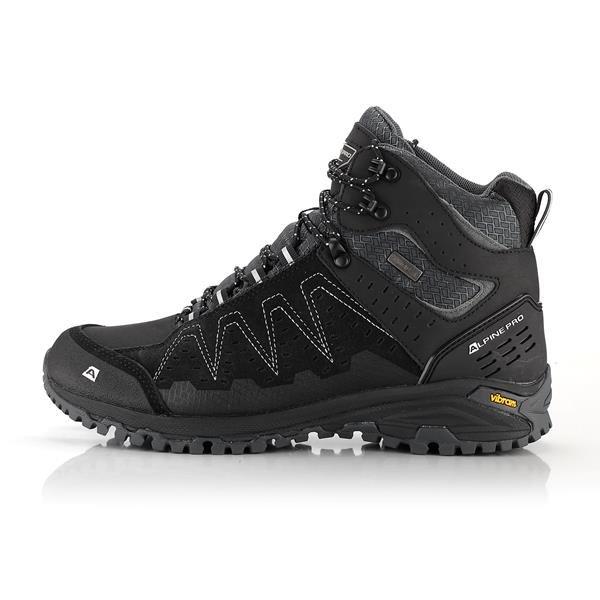 Černé nepromokavé trekové boty Alpine Pro - velikost 36 EU