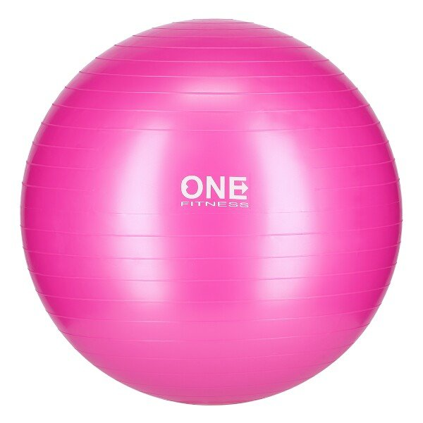 Růžový gymnastický míč One Fitness - průměr 55 cm