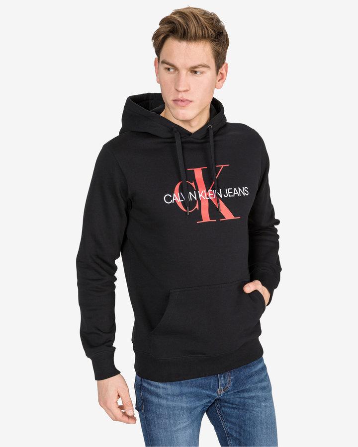 Černá pánská mikina s kapucí Calvin Klein - velikost XXL