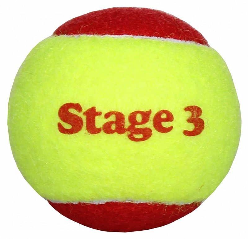 Tenisový míček - Stage 3 Red dětské tenisové míče, měkké, zvětšené balení: 1 ks
