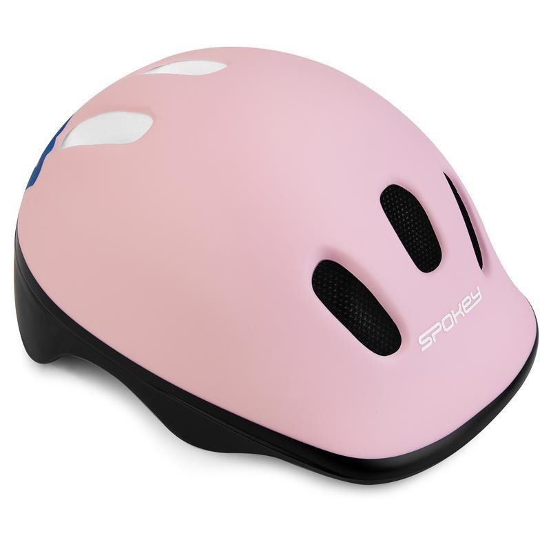 Růžová dětská cyklistická helma Spokey - velikost 49-56 cm