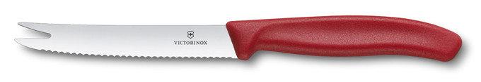 Nůž - Nůž na sýr a uzeninu Victorinox 11 cm Barva: červená
