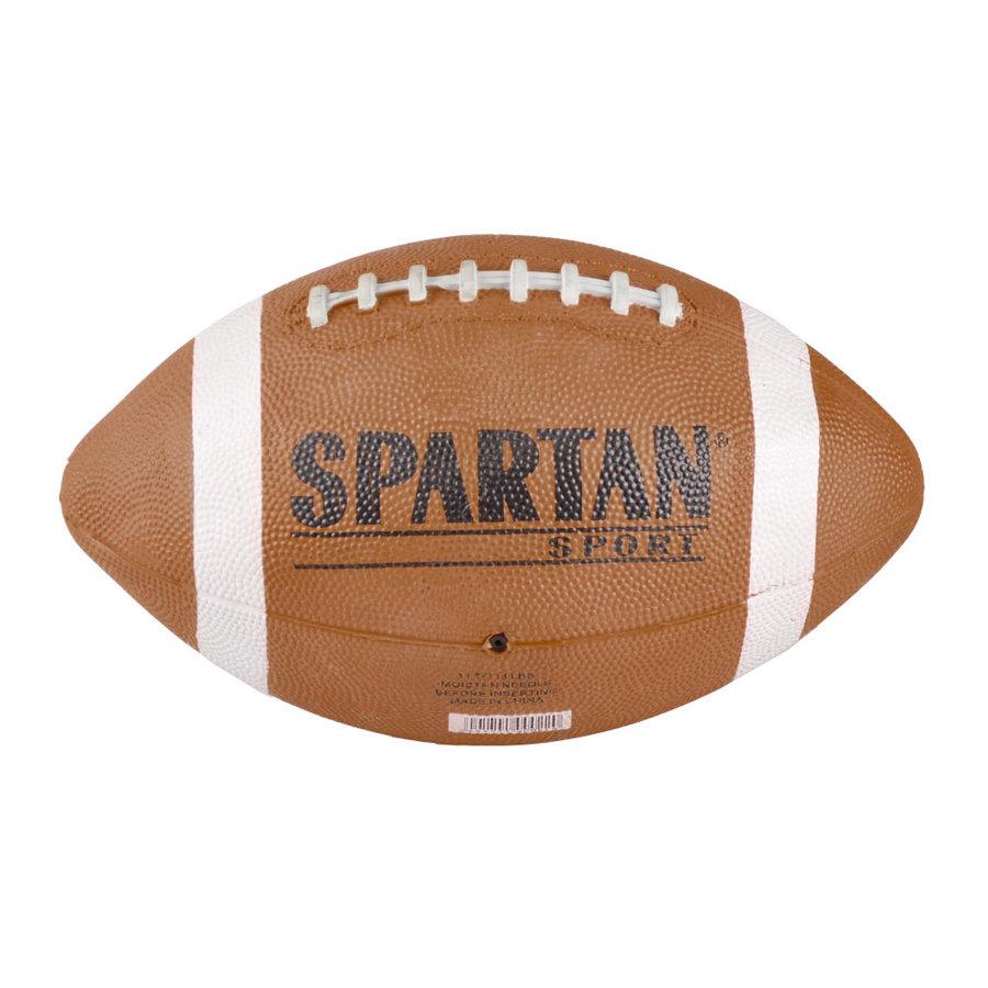 Hnědý gumový míč na americký fotbal Spartan