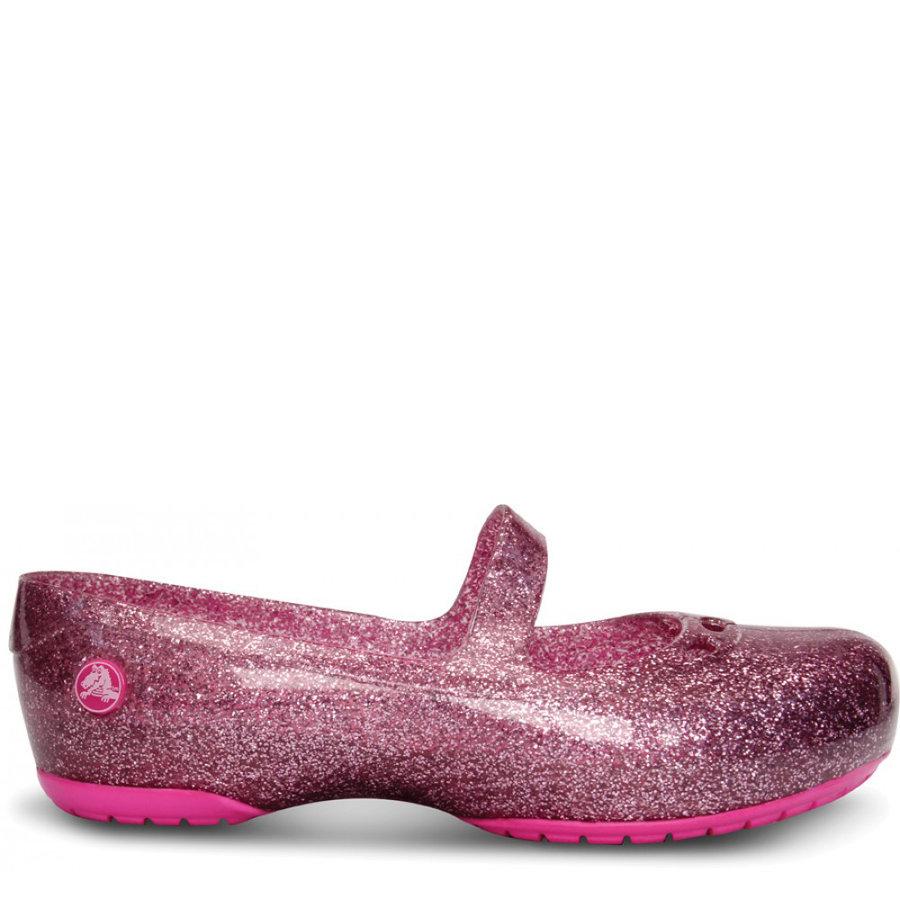 Růžové dětské baleríny Crocs - velikost 23-24 EU