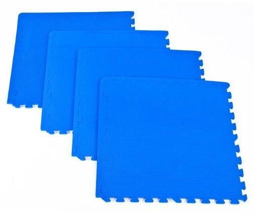 Zátěžová podložka - Spokey Scrab puzzle podložka pod fitness vybavení 4 kusy modrá