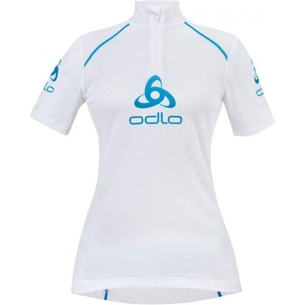 Bílé dámské funkční tričko s krátkým rukávem Odlo