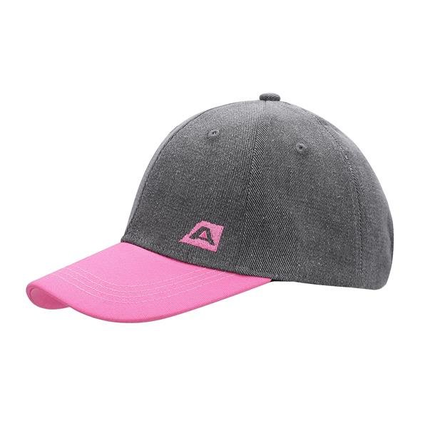 Růžovo-šedá kšiltovka Bargog, Alpine Pro - univerzální velikost