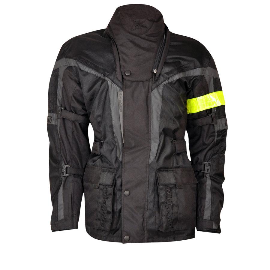 Černá pánská motorkářská bunda AVIATOR, Rebelhorn - velikost M