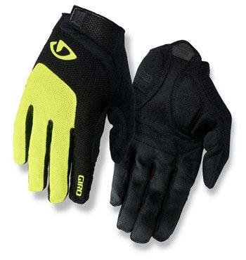 Černo-žluté cyklistické rukavice Giro