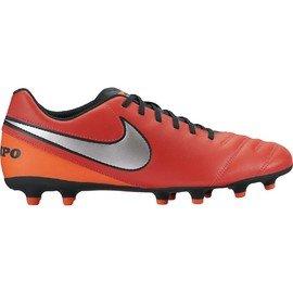 Červené kopačky lisovky TIEMPO RIO III FG, Nike - velikost 42,5 EU