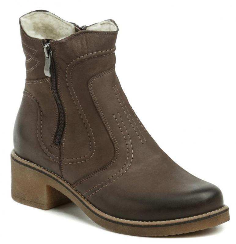 Hnědé dámské zimní boty Mintaka - velikost 37 EU