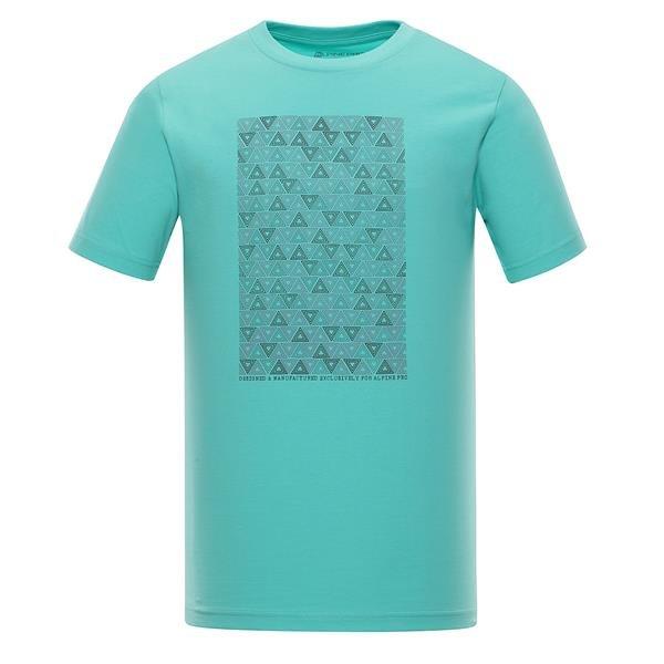 Zelené pánské tričko s krátkým rukávem Alpine Pro - velikost S