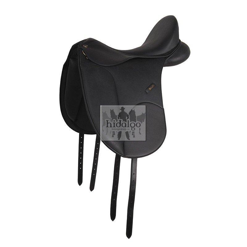 Černé drezurní sedlo na koně Zeus Premium, HKM