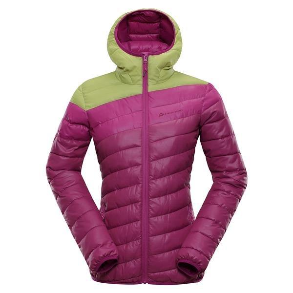 Růžovo-zelená dámská bunda Alpine Pro