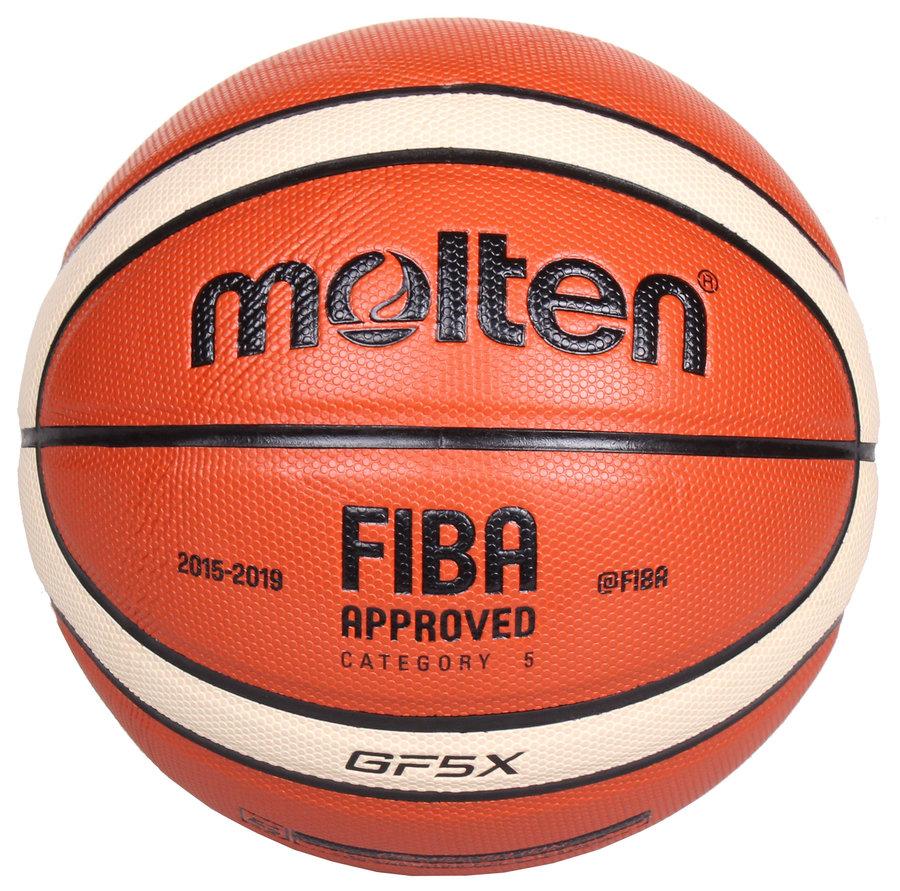 Oranžový basketbalový míč BGF5 , Molten - velikost 5